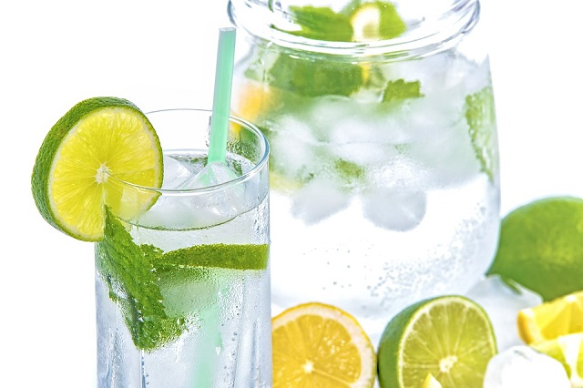 Mint Cold Drink Glass Ice Mineral Water Lime